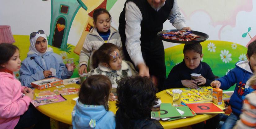baby daycare Refugee training program Caritas Jordan Modern Language Center 2019