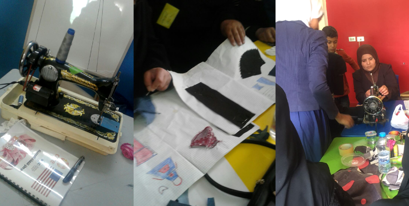 Refugee training program sewing