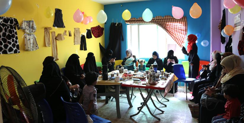 Refugee training program sewing