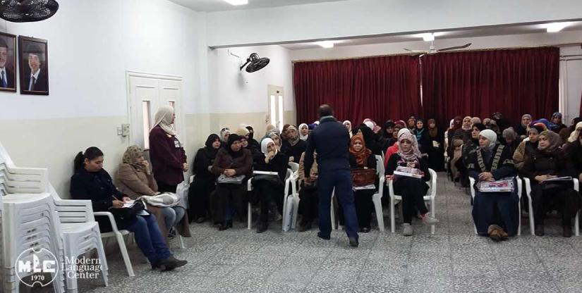 Refugee training program Caritas Jordan Modern Language Center 2019