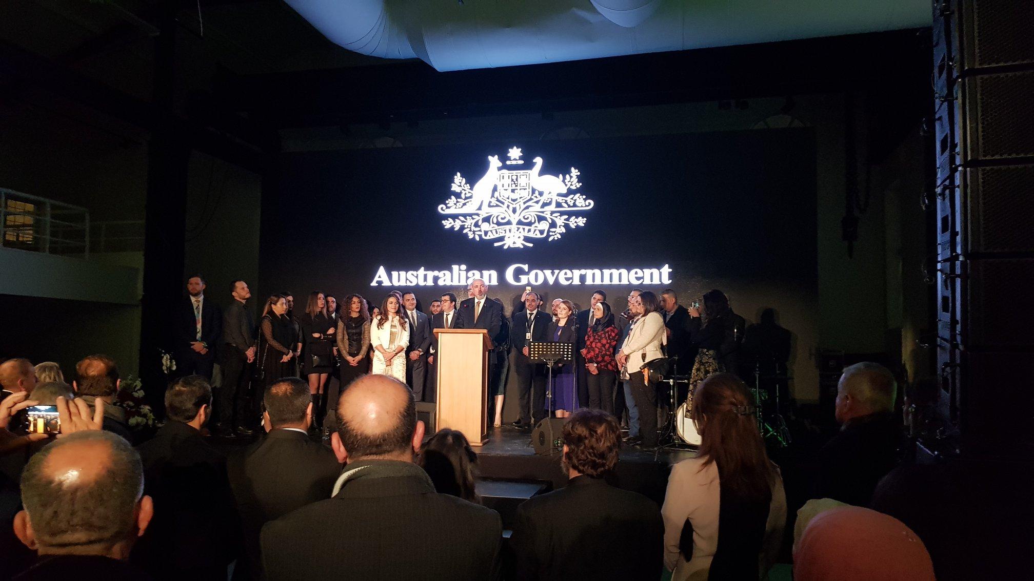 مركز اللغات الحديث يشارك السفارة الاسترالية احتفالهم السنوي لليوم الوطني لدولة استراليا