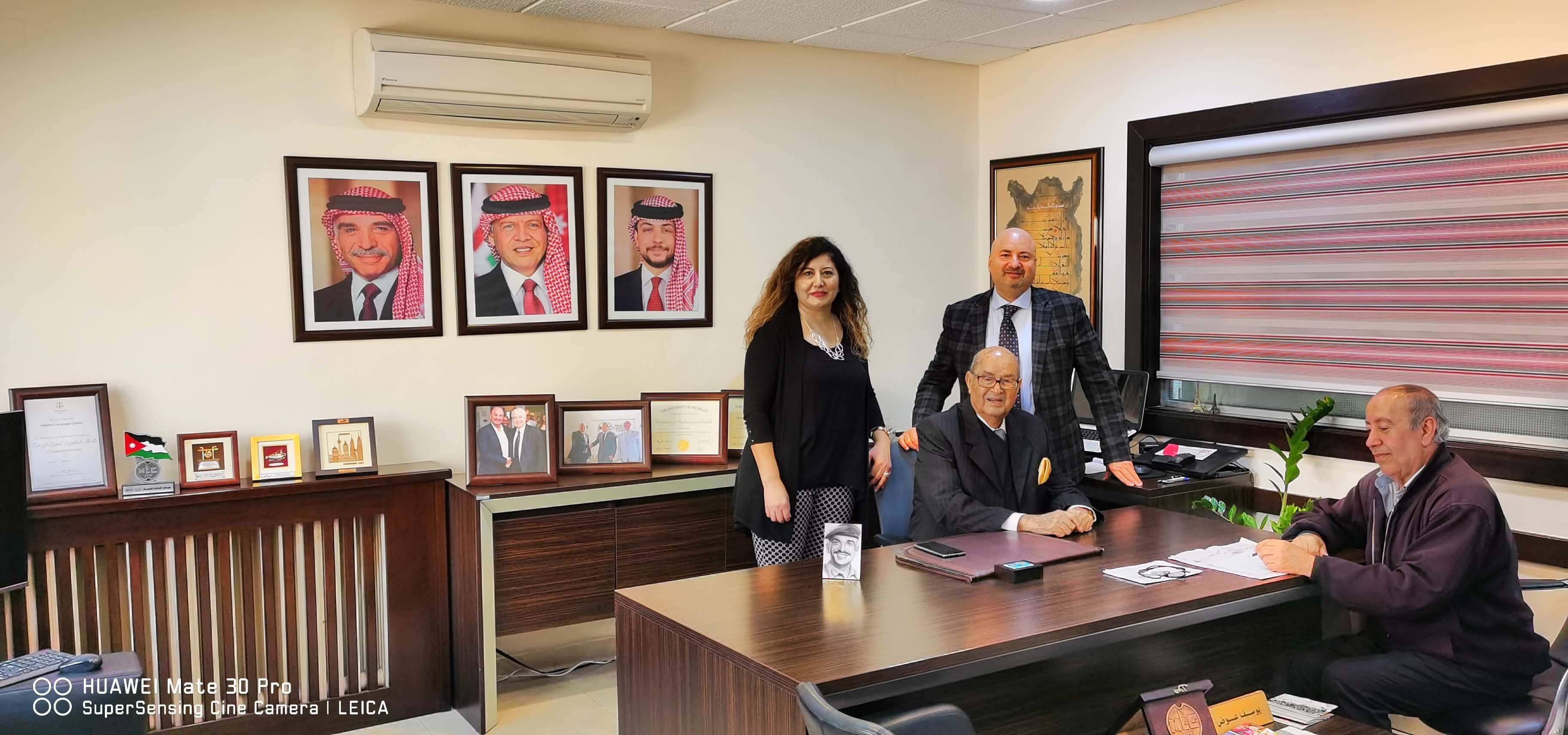 مركز اللغات الحديث يوسف عوض: نذرت نفسي ووهبت حياتي لخدمة الأردن العزيز وأبنائه